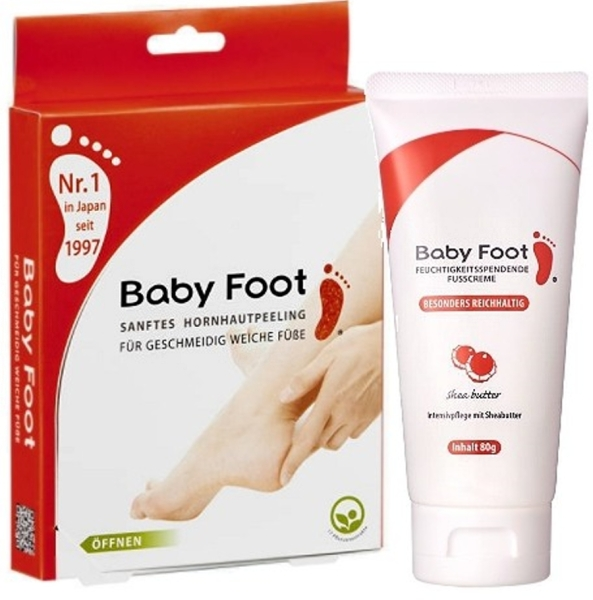 Baby Foot Hornhautpeeling & Fußcreme Set